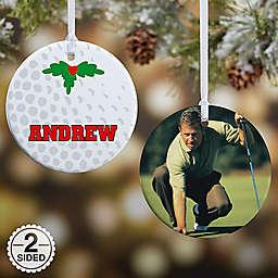 Golf 2-Sided Glossy Photo Christmas Ornament