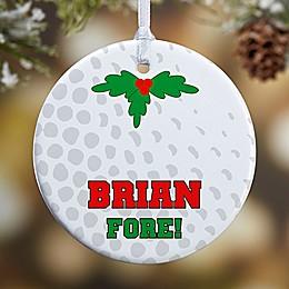 Golf 1-Sided Glossy Christmas Ornament
