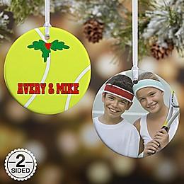 Tennis 2-Sided Glossy Photo Christmas Ornament