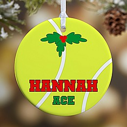 Tennis 1-Sided Glossy Christmas Ornament