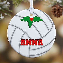 Volleyball 1-Sided Glossy Christmas Ornament