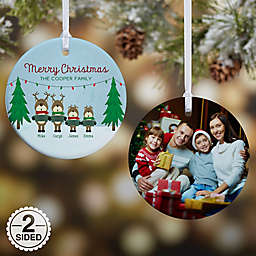 Reindeer Family Character Christmas Ornament Collection