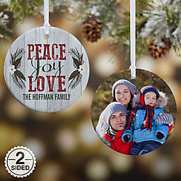 Peace, Joy, Love Christmas Ornament Collection