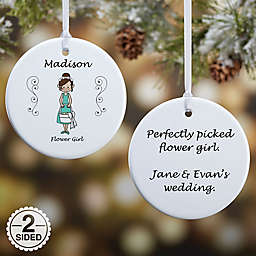 Wedding Party Characters Christmas Ornament Collection