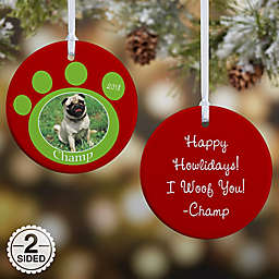 Pawprint On Our Hearts Pet Christmas Ornament Collection