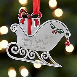 Santa's Sleigh Christmas Ornament