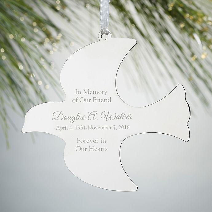 Alternate image 1 for Memorial Dove Engraved Christmas Ornament