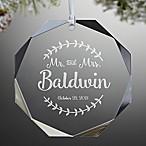 Mr. & Mrs. Premium Engraved Wedding Christmas Ornament