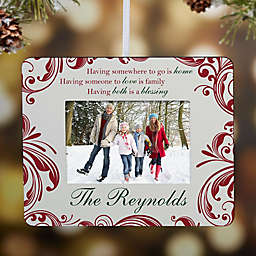 Christmas Blessings Mini Picture Frame Christmas Ornament