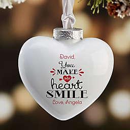 You Make My Heart Smile Heart Christmas Ornament