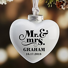 The Happy Couple Heart Deluxe Christmas Ornament
