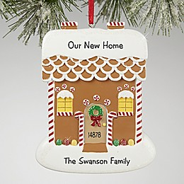 Gingerbread House Greetings Christmas Ornament