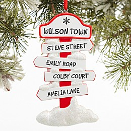 North Pole Family Sign Christmas Ornament