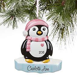 North Pole Penguin Girl Christmas Ornament