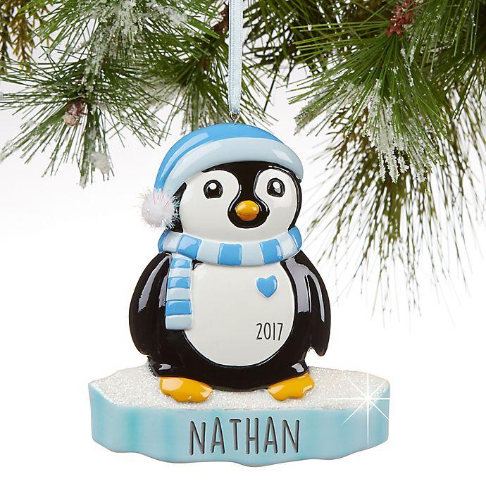 Alternate image 1 for North Pole Penguin Boy Christmas Ornament