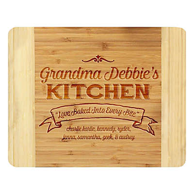 Stamp Out Grandma's Kitchen Love 11-Inch x 14-Inch Bamboo Cutting Board