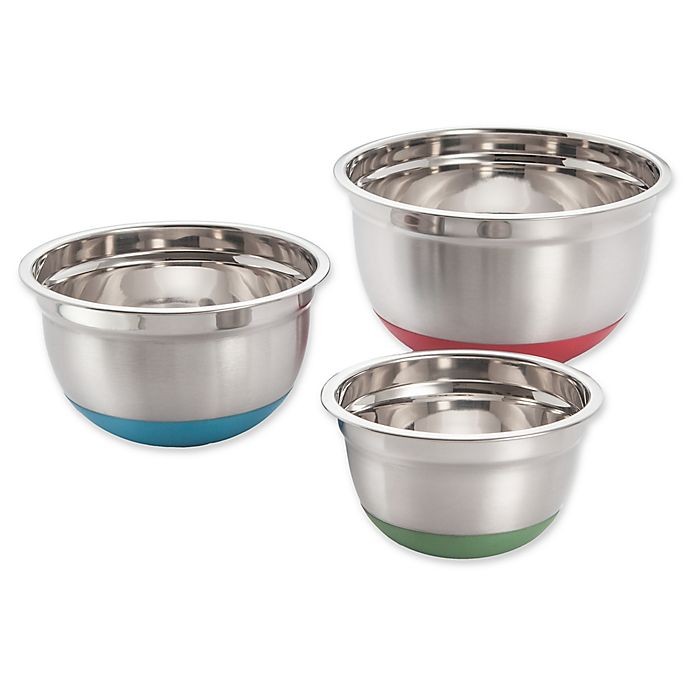 Alternate image 1 for Excelsteel 3-Piece Stainless Steel Mixing Bowl Set