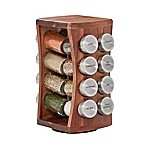 Kamenstein® 16-Jar Hourglass Acacia Spice Rack
