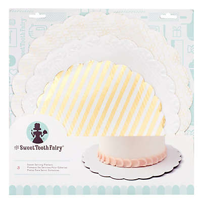 Sweet Tooth Fairy Cake Plates in Gold (Set of 3)