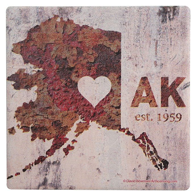 Alternate image 1 for Thirstystone® Dolomite AK Rusty Cement Wall Heart Single Coaster