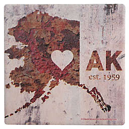 Thirstystone® Dolomite AK Rusty Cement Wall Heart Single Coaster