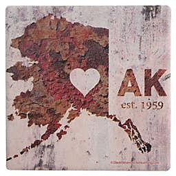 Thirstystone® Dolomite AK Rusty Cement Wall Heart Single Coaster