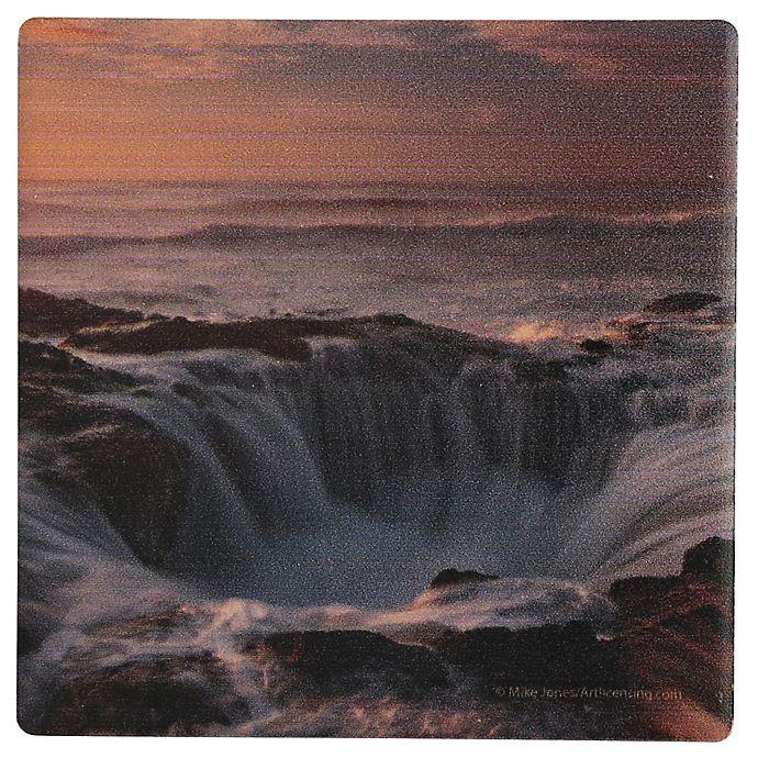 Alternate image 1 for Thirstystone® Dolomite Oregon Thor's Well Single Coaster