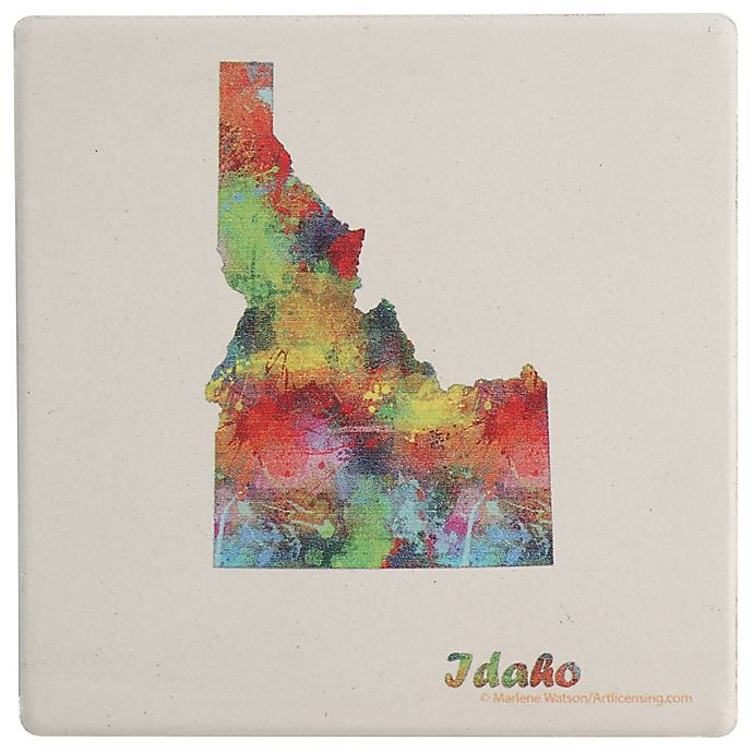Alternate image 1 for Thirstystone® Dolomite Idaho State Map Single Round Coaster