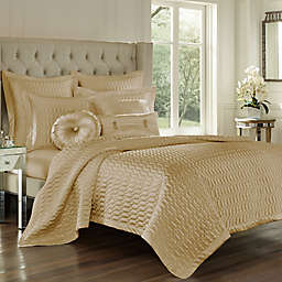 J. Queen New York® Satinique King Quilt  in Gold