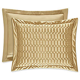 J. Queen New York® Satinique Quilted Standard Pillow Sham in Gold