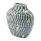 Zuo® Modern Seta Distressed Short Vase in Blue