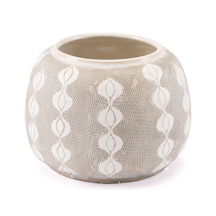 Alternate image 1 for Zuo® Libre Medium Planter in White/Grey