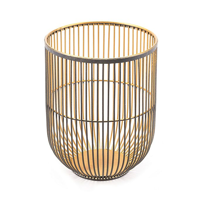 Alternate image 1 for Zuo® Jaula Small Candle Holder in Black/Gold