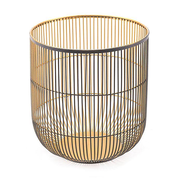 Alternate image 1 for Zuo® Jaula Large Candle Holder in Black/Gold
