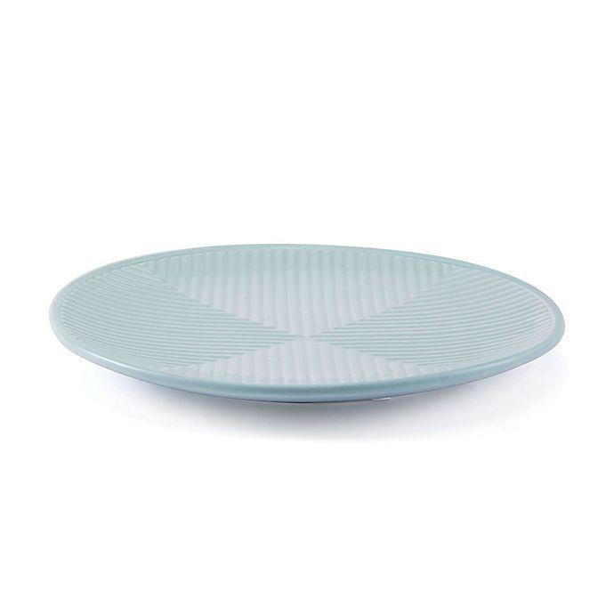 Alternate image 1 for Zuo® 12.8-Inch Herringbone Plate in Sea Blue