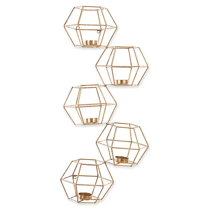 Alternate image 1 for Zuo® Modern Wall Candle Holders in Gold (Set of 5)