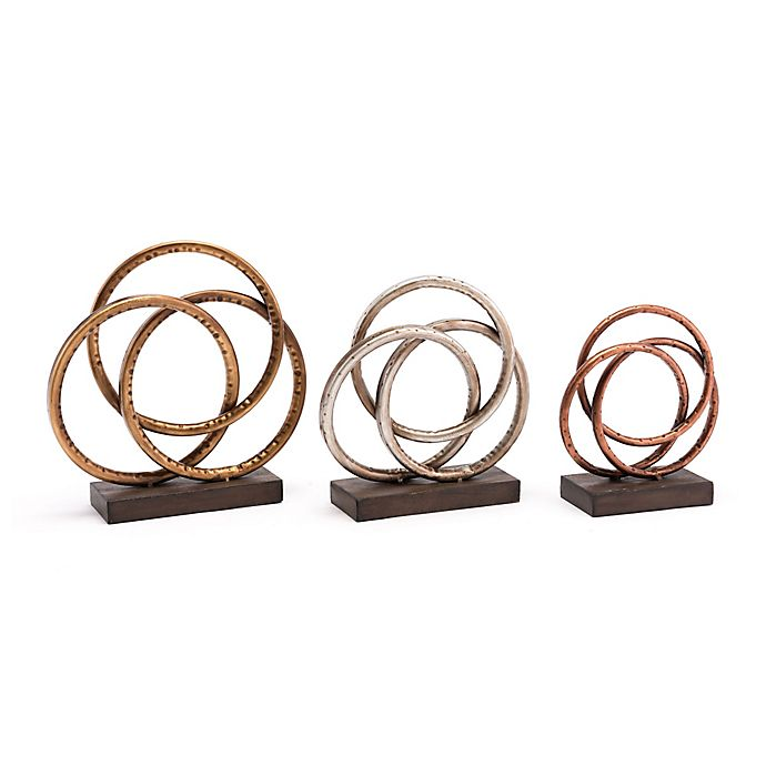 Alternate image 1 for Zuo® Modern Antique Rose Sculpture (Set of 3)