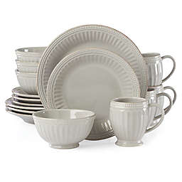 Lenox® French Perle Groove 16-Piece Dinnerware Set in Grey