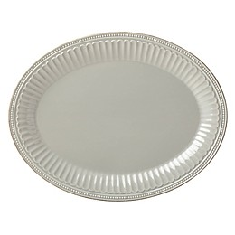 Lenox® French Perle Groove 16-Inch Oval Platter in Grey