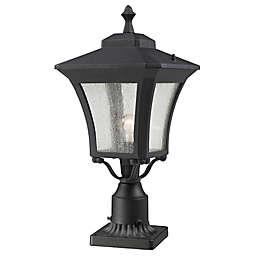 Filament Design Tierra 1-Light 25.5-Inch Outdoor Post Fixture in Sand Black