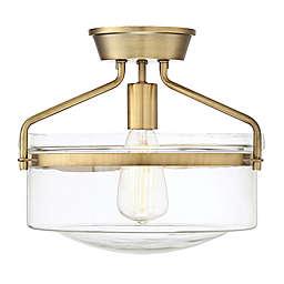 Filament Design Semi-Flush-Mount Ceiling  Light Fixture in Brass