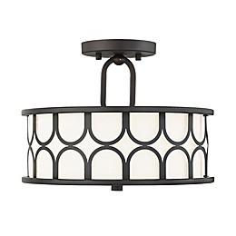 Filament Design 2-Light Semi-Flush Mount Ceiling Fixture in Oil Rubbed Bronze