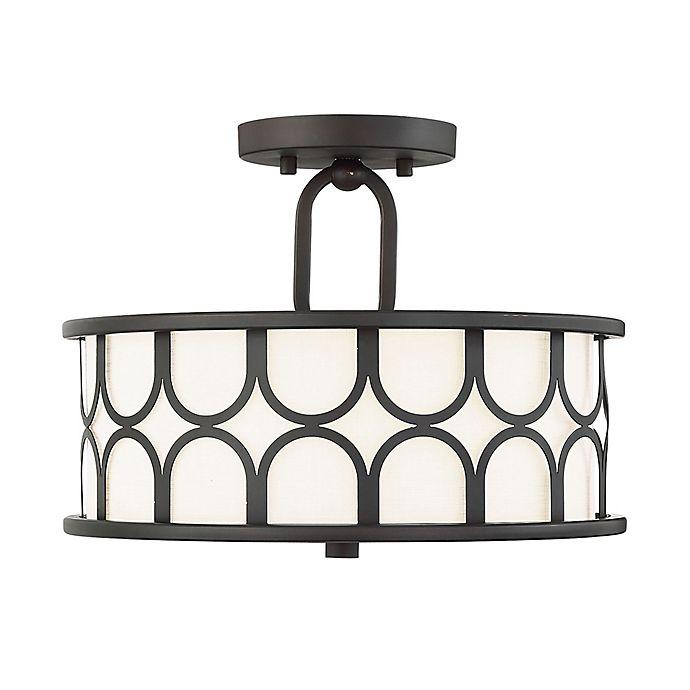 Alternate image 1 for Filament Design 2-Light Semi-Flush Mount Ceiling Fixture in Oil Rubbed Bronze