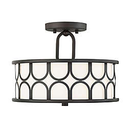 Filament Design 2-Light Semi-Flush Mount Ceiling Fixture in Oil Rubbed Bronze