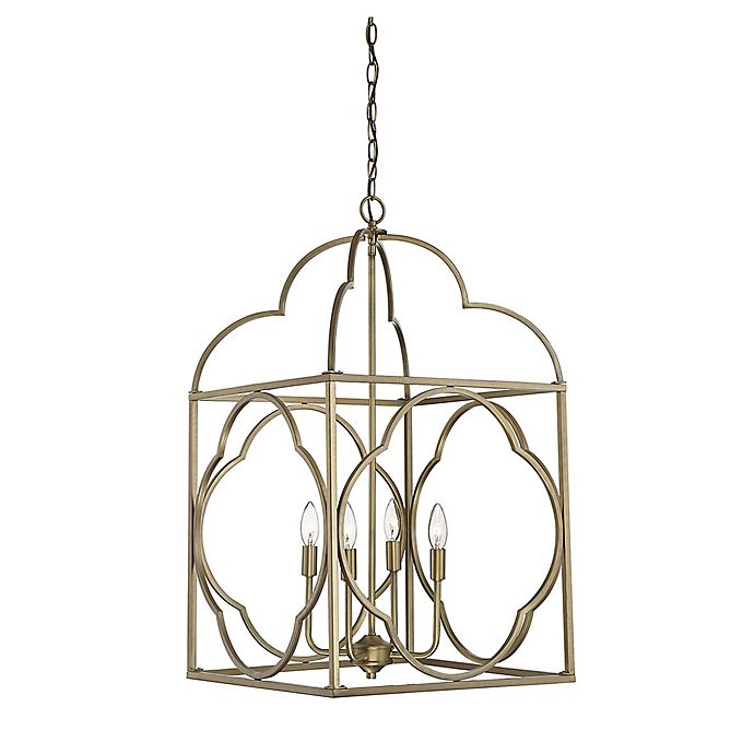 Alternate image 1 for Filament Design Open Lantern Foyer 4-Light Pendant in Brass