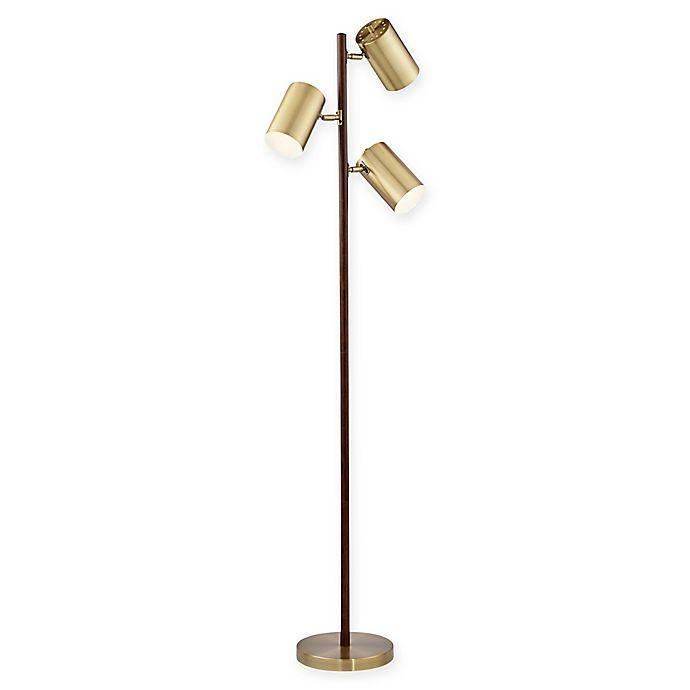 Alternate image 1 for Pacific Coast Lighting® 3-Light Solid Wood Floor Lamp in Walnut