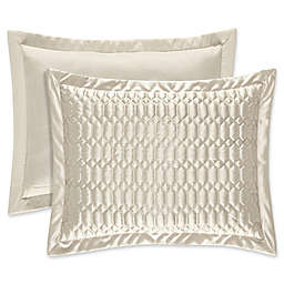 J. Queen New York® Satinique Quilted King Pillow Sham in Natural