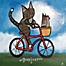 Part of the Marmont Hill Bike Riding Cat Canvas Wall Art