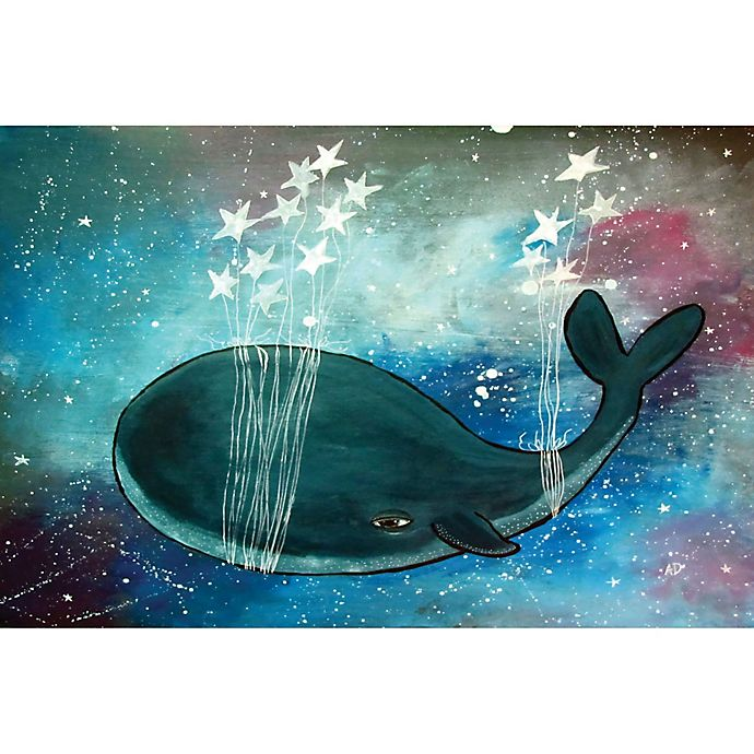 Alternate image 1 for Marmont Hill Star Stringed Whale 60-Inch x 40-Inch Canvas Wall Art