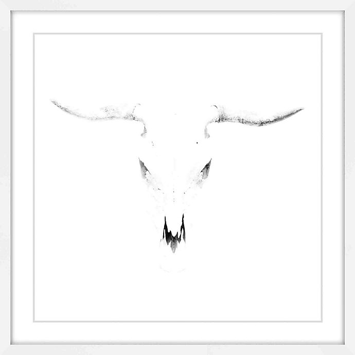 Alternate image 1 for Marmont Hill Bleached Horns 18-Inch sq. Framed Print Wall Art